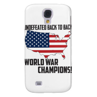 Undefeated Back to Back World War Champions USA Galaxy S4 Case