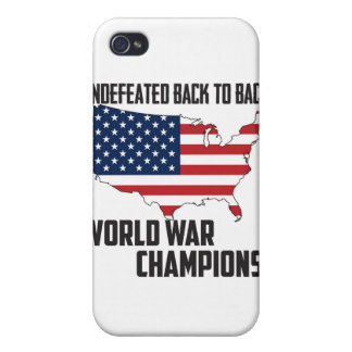 Undefeated Back to Back World War Champions USA Covers For iPhone 4