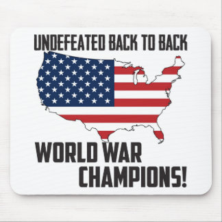 Undefeated Back to Back World War Champions USA Mouse Pad
