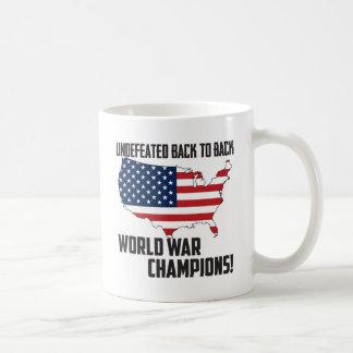 Undefeated Back to Back World War Champions USA Mugs