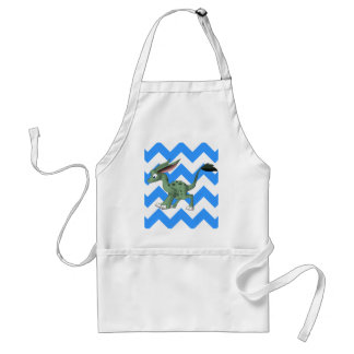 Undefined Creature w White Any Color Chevron Back Aprons
