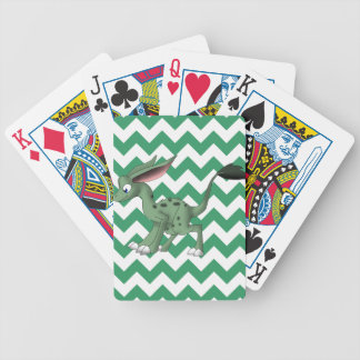 Undefined Creature w/ White/Any Color Chevron Back Bicycle Playing Cards