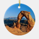 undefined Double-Sided ceramic round christmas ornament