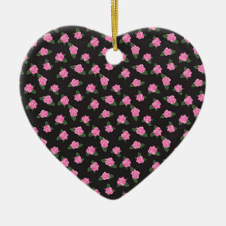 undefined Double-Sided heart ceramic christmas ornament