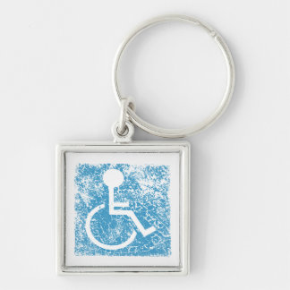 undefined Silver-Colored square keychain