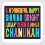 """undefined square sticker<br><div class=""""desc"""">Makes great gift for chanukah!</div>"""