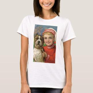 Under $20: Christmas Boy and His Faithful Dog T-Shirt