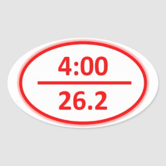 Under 4 Hour Marathon Sticker