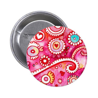 Under a Pink Sky Pinback Button