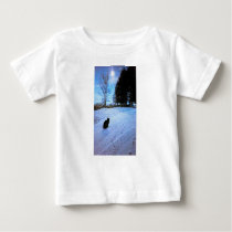 Under A Tabby Moon Baby T-Shirt