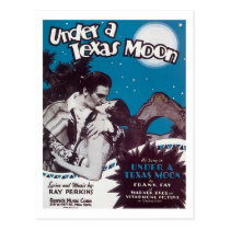 Under A Texas Moon Songbook Cover Postcard