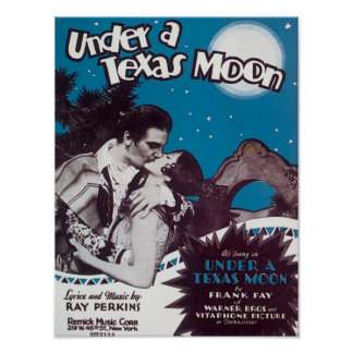 Under A Texas Moon Songbook Cover Poster