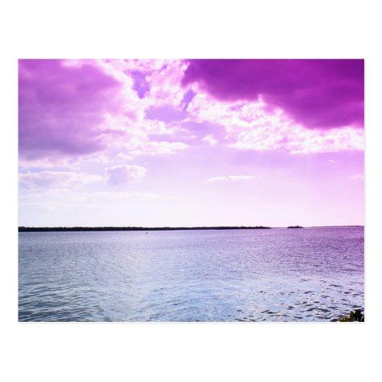 Under a violet sky postcard