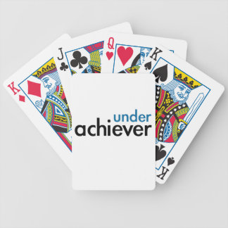Under Achiever (blue light special) Poker Cards