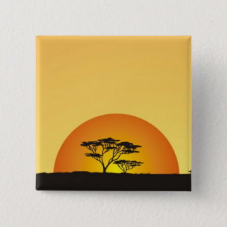 Under African skies: Africa Sunset Button