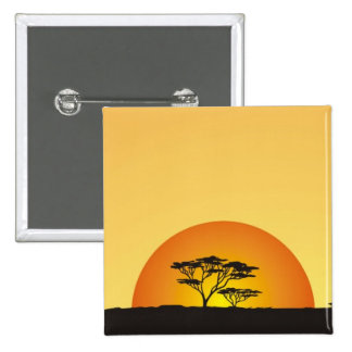 Under African skies: Africa Sunset 2 Inch Square Button