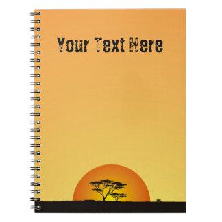 Under African skies: Africa Sunset Notebook
