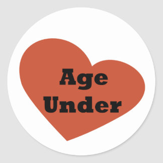 Under Age (Funny) Round Stickers