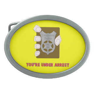 Under Arrest Oval Belt Buckle