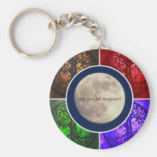 Under August Skies... Basic Round Button Keychain