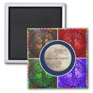 Under August Skies... 2 Inch Square Magnet