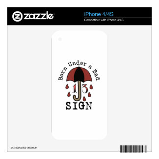 Under Bad Sign iPhone 4S Skin