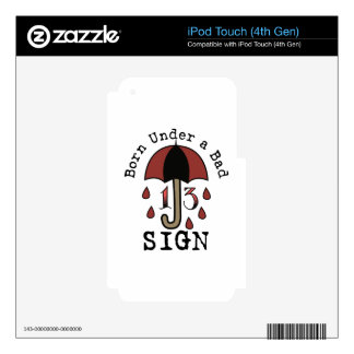 Under Bad Sign iPod Touch 4G Decal
