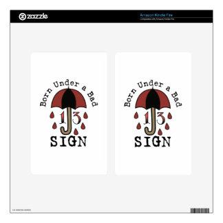 Under Bad Sign Skins For Kindle Fire