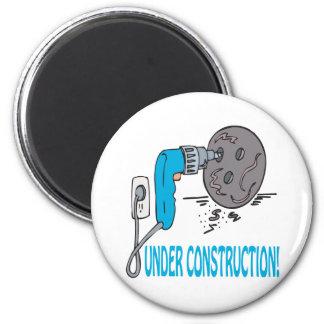 Under Construction 2 Inch Round Magnet