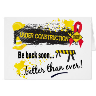 Under Construction Blood Cancer Card