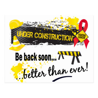 Under Construction Blood Cancer Postcard