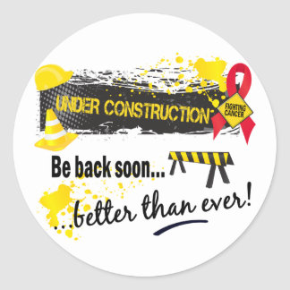Under Construction Blood Cancer Round Sticker