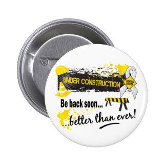 Under Construction Bone Cancer 2 Inch Round Button