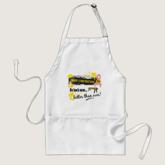 Under Construction Breast Cancer Adult Apron