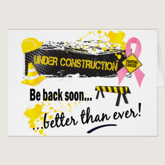 Under Construction Breast Cancer Card