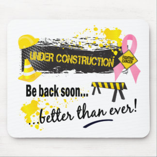 Under Construction Breast Cancer Mouse Pad
