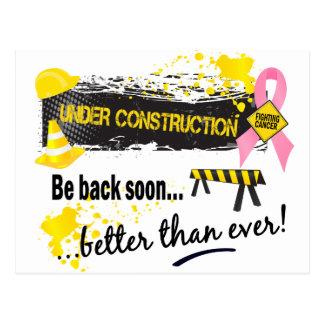 Under Construction Breast Cancer Postcard