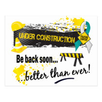 Under Construction Cervical Cancer Postcard