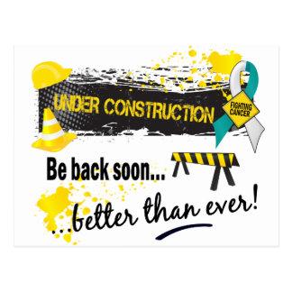 Under Construction Cervical Cancer Postcard