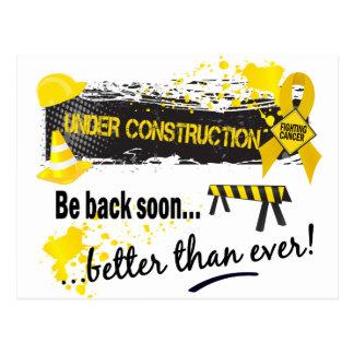 Under Construction Childhood Cancer Postcard