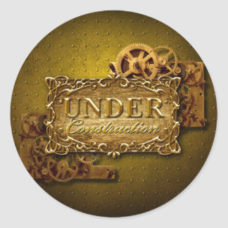 Under Construction Classic Round Sticker