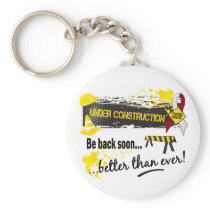 Under Construction Head And Neck Cancer Keychain