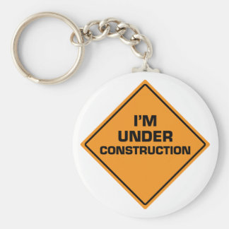 Under Construction Keychain