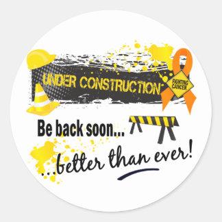 Under Construction Leukemia Classic Round Sticker