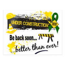 Under Construction Liver Cancer Postcard