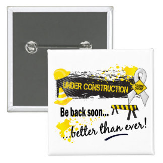 Under Construction Lung Cancer 2 Inch Square Button