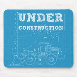 Under construction mouse pad