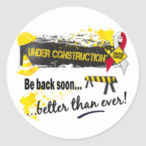 Under Construction Oral Cancer Classic Round Sticker