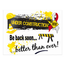 Under Construction Oral Cancer Postcard