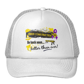 Under Construction Pancreatic Cancer Trucker Hat
